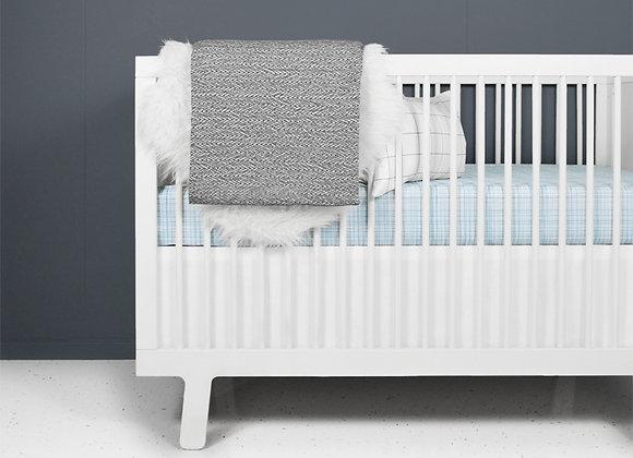 Baby boy blue modern crib bedding