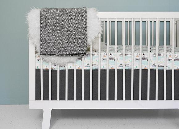 Woodland crib bedding set