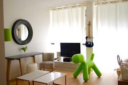 Décoration d'un salon d'appartement.