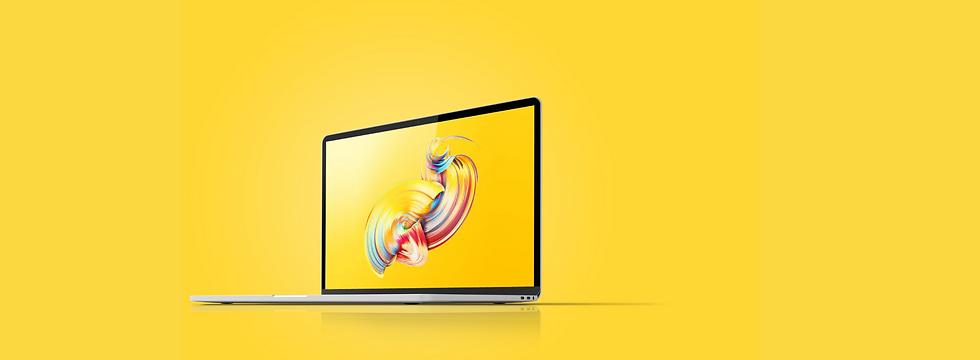 Laptop_yellow background