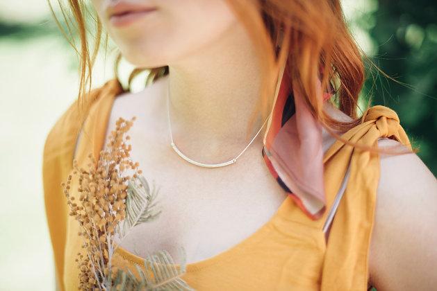 Collar Tubular Plata/Plata