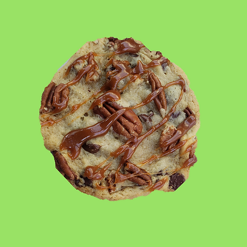 Chocolate Chip Pecan w/ Caramel Drizzle