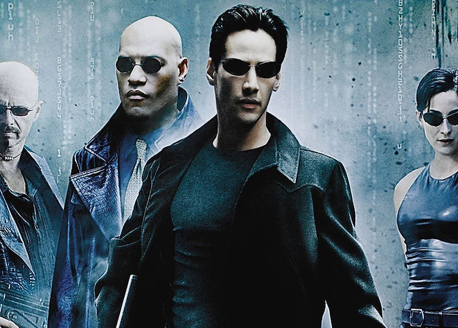 "The Matrix is a 1999 science fiction action film written and directed by the Wachowski Brothers and starring Keanu Reeves. It depicts a dystopian future in which reality, as perceived by most humans, is actually a simulated reality called ""the Matrix"". High and AI Fun, Artificial Intelligence Fun, Making AI Cool!, #highandai"
