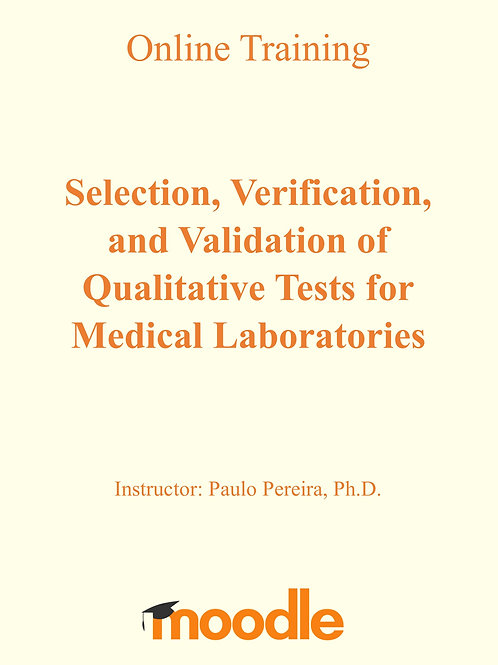 Training: Selection, verification and validation of qualitative laboratory tests