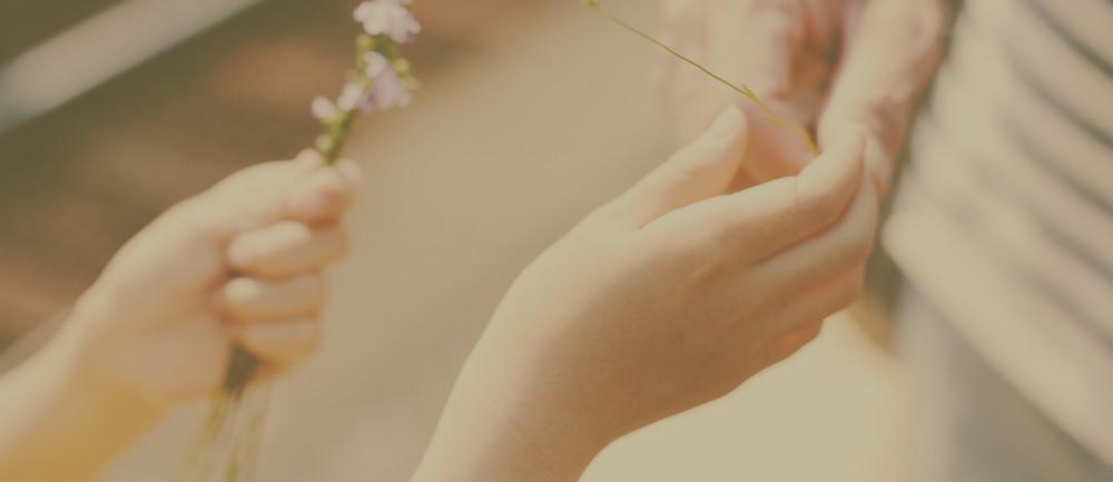 Eines der schönsten Bilder: eine haltende Hand