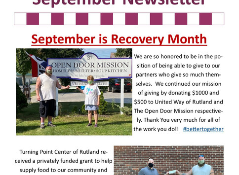 September Newsletter is here!!
