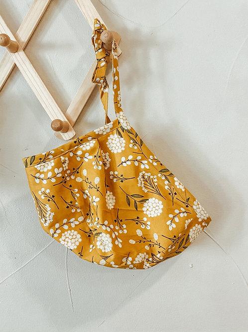 Mustard floral bonnet