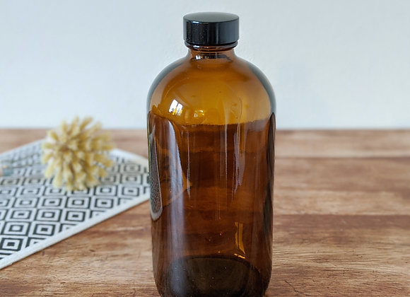 Bouteille de verre ambré - 473 ml / 16 oz