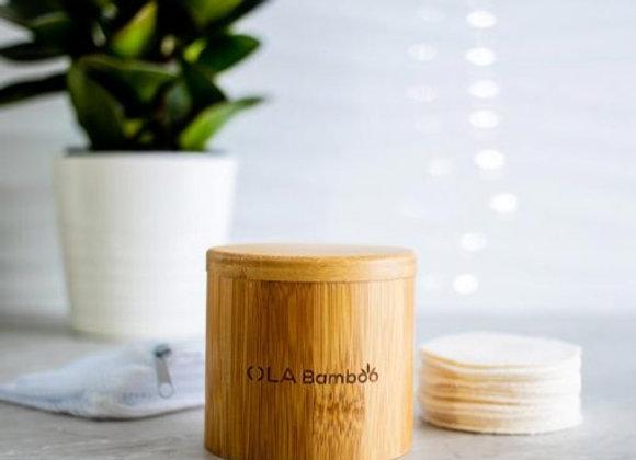 OLA Bamboo - Coffret de 16 tampons démaquillants réutilisables