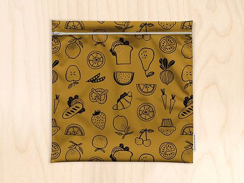Demain Demain - Grand sac imperméable motifs fruits et légumes