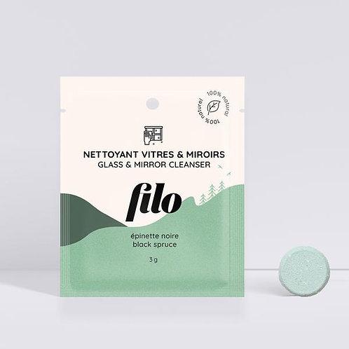 FILO - Nettoyant pour vitres et miroirs en pastille