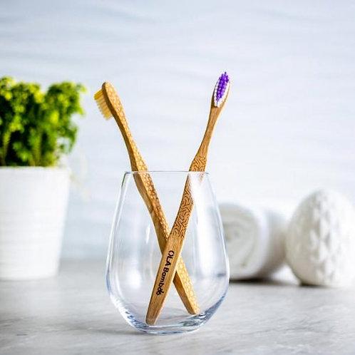 OLA Bamboo - Brosse à dents *éclatante* en bambou - Soies souples