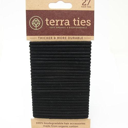 Terra ties - Élastiques à cheveux biodégradables (paquet de 27)
