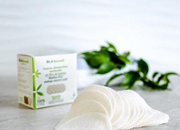 OLA Bamboo - Recharge de 16 tampons démaquillants réutilisables