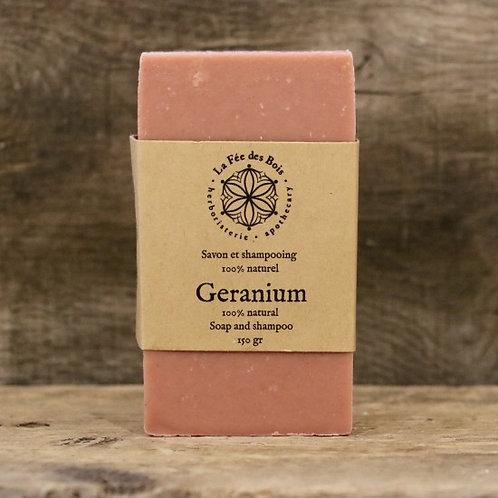 La fée des bois - Savon et shampoing Géranium