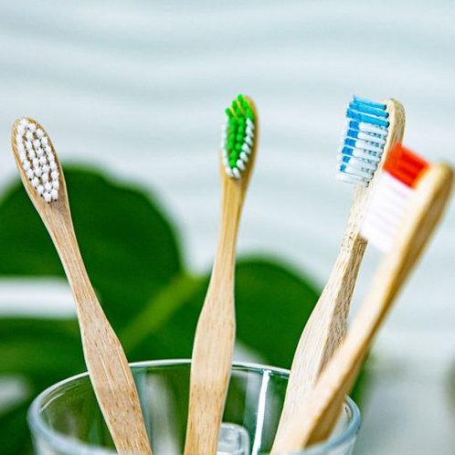 OLA Bamboo - Brosse à dents pour adulte en bambou - Soies souples