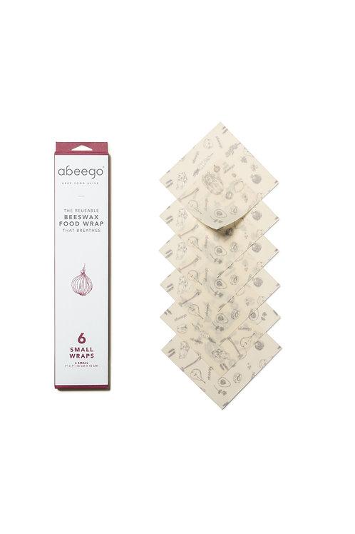 Abeego - Emballages à la cire d'abeille - 6 petits