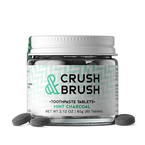 Crush & Brush - Dentifrice en comprimés menthe et charbon(75)