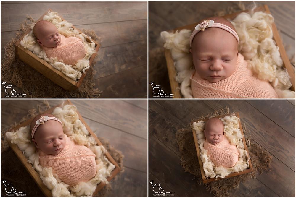 Seance photo bébé emmailloté Savoie