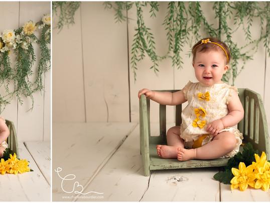 La jolie séance photo bébé de Melinda - 1 an - Photographe bébé à 25 minutes de Chambéry - Savoie