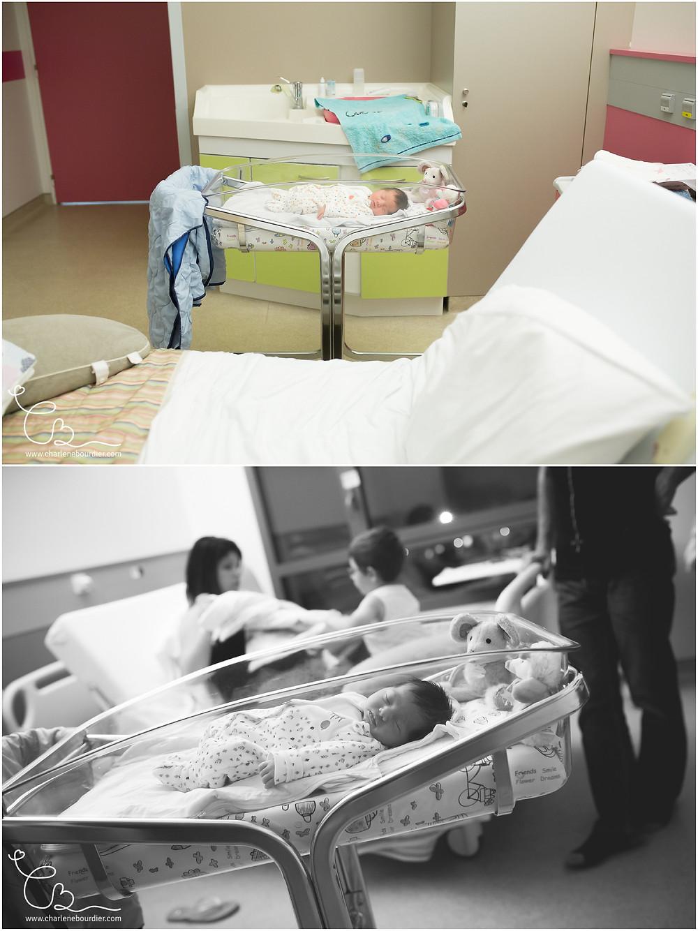 Séance photo à la maternité de la clinique Saint Vincent de Paul à Bourgoin Jallieu