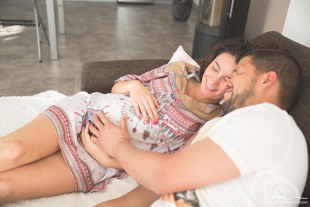 Photographe grossesse à domicile Isere