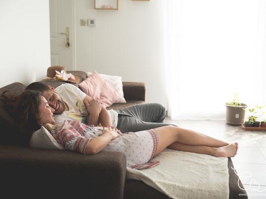 Reportage photo grossesse à domicile à Salagnon - Isère - Johanna