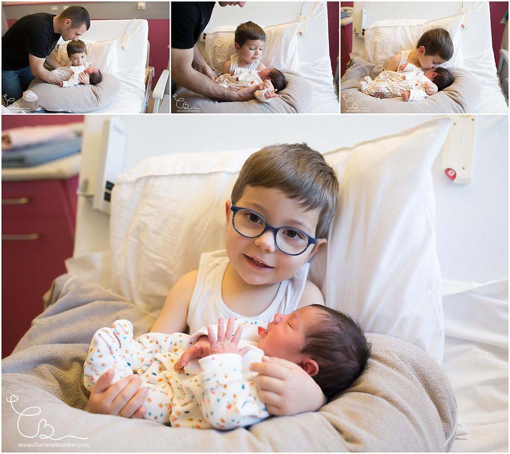 Séance photo naissance à la maternité de la clinique de Bourgoin