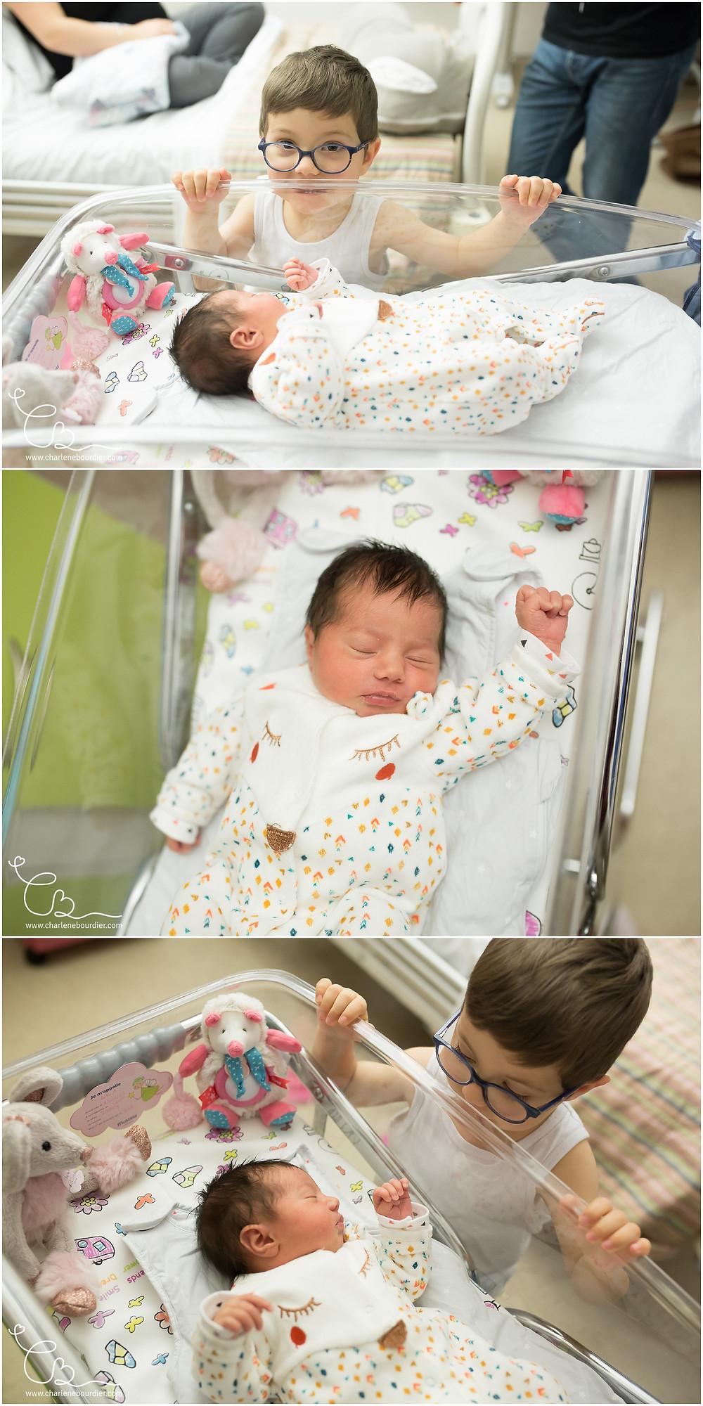 Séance photo naissance à la maternité de Bourgoin