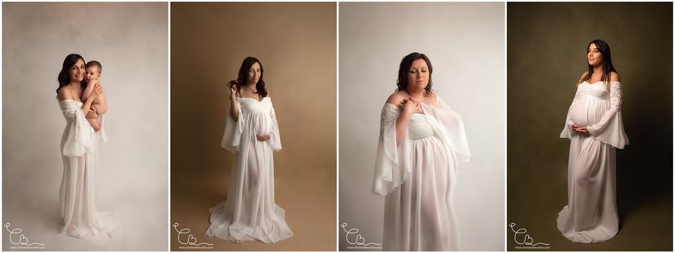 Robe future maman blanche photographe gr