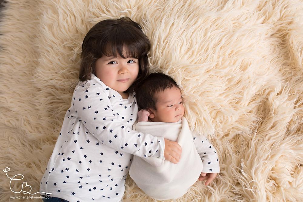 Séance photo frère soeur bébé Lyon
