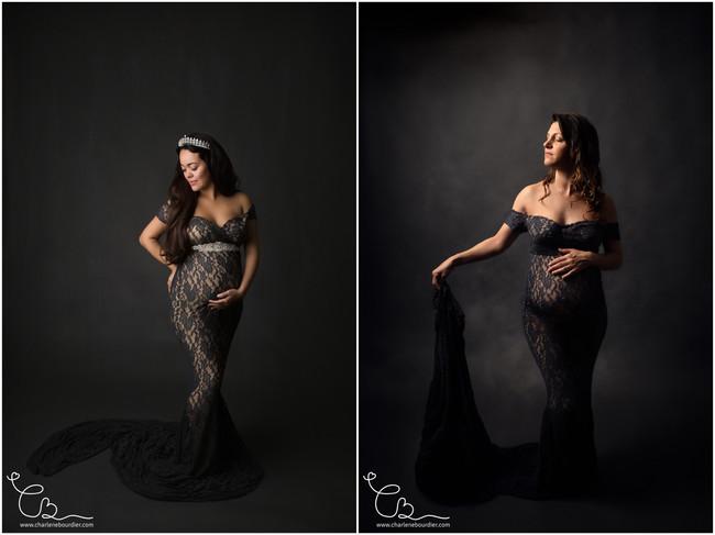 Noir - Robe photographe grossesse isere