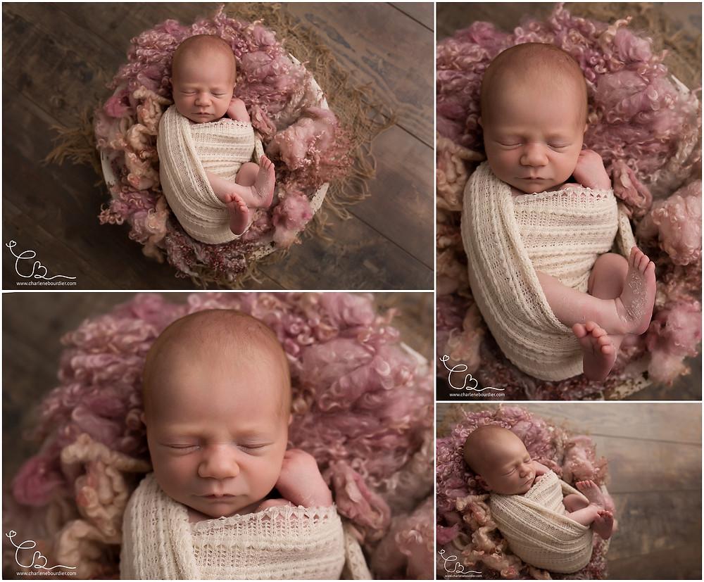 Newborn posing en Savoie