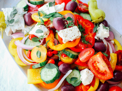 Crisp and Crunchy Greek Salad