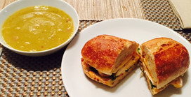 Roasted Chicken Sandwich with Poblanos & Chipotle Mayo