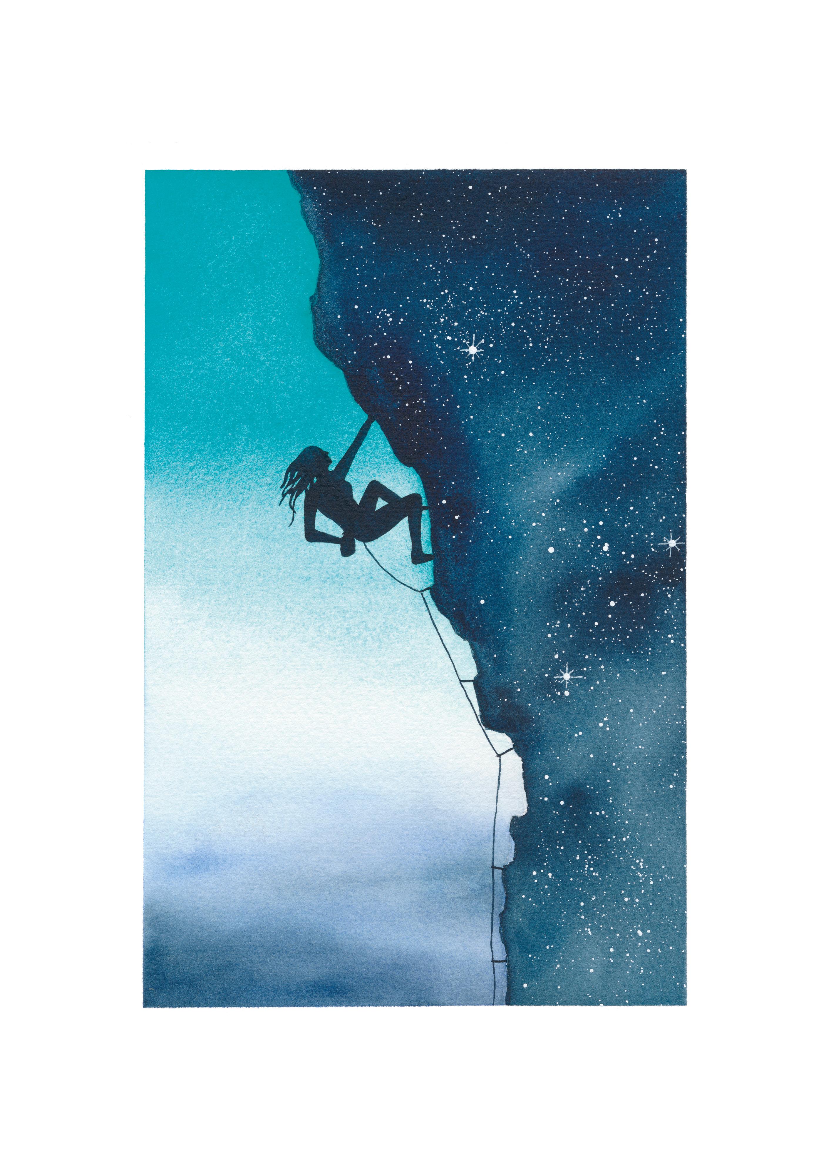 Climber Blue sky