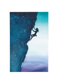 Climber Purple sky