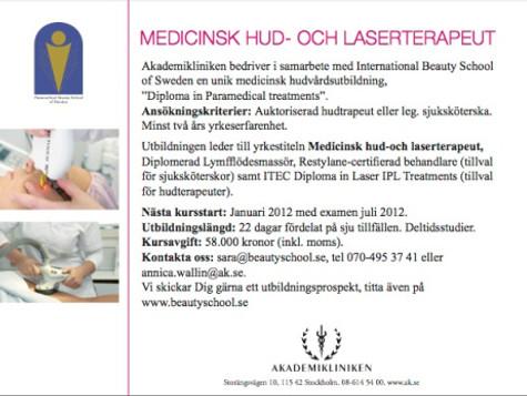 Utbildning för hudterapeuter