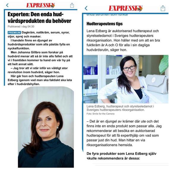 Experttips om hudvård i Expressen