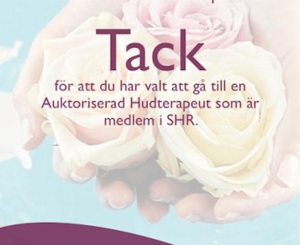 Yrket heter Hudterapeut och vi heter Sveriges Hudterapeuters Riksorganisation.