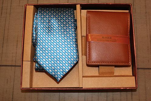 Electric Blue Tie & Wallet Set