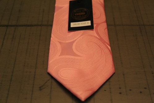 Solid Pink Fiat 8 Tie & Pocket Square