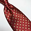 Thumbnail: Red w/Gold Dots Tie 7 Pocket Square Set