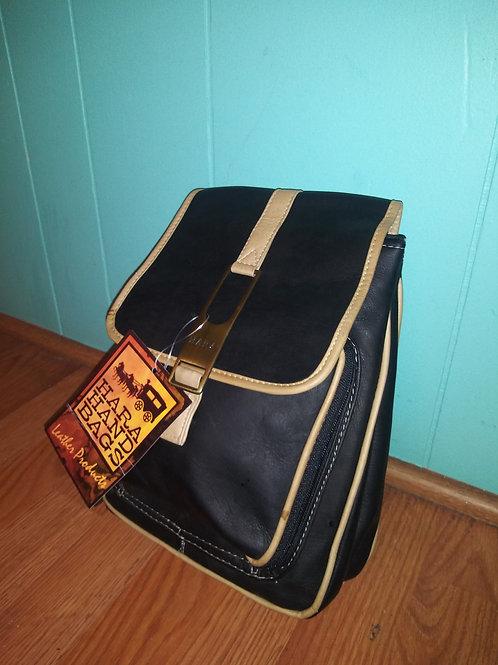 Black Leather Mini-Backpack