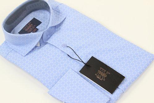 Blue Window Pane & Tie Combo