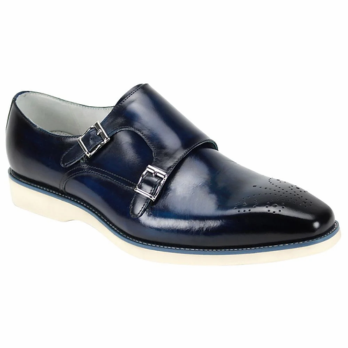 Men's Leather Dress Shoe - White Sole