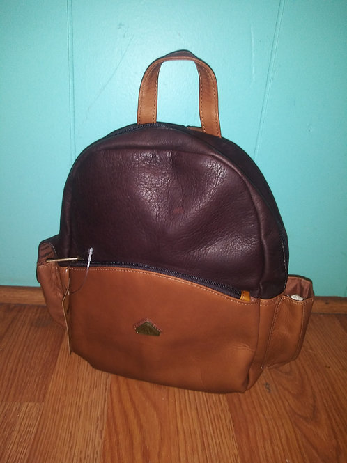 Brown/Caramel Leather Mini Backpack