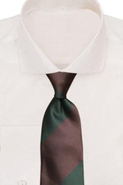 Verse 9 Brown/Green QStripe Tie & Pocket Square Set