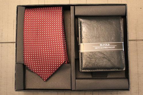 Red Tie & Wallet Set