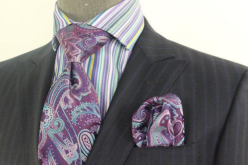 Leviticus - 7 Purple Tie & Pocket Square